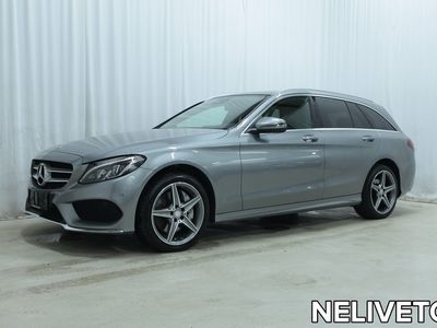 käytetty Mercedes C250 d 4Matic T A AMG Line *AMG-PAKETIT, PANORAAMA, NAVI, TÄYSNAHKAT YMS.*