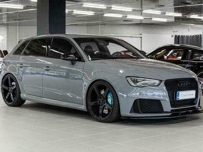 "käytetty Audi RS3 Sportback 2,5 TFSI S tronic, Vossen 20"", APR n. 450hv, Miltek, B&O, LED, Lejon intake *Korko 1,99%*"