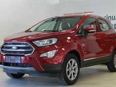 "käytetty Ford Ecosport 1,5 TDCi EcoBlue 125hv M6 AWD Titanium 5-ovinen - Neliveto Ecosport. Tehdastakuu 28.9.2023 saakka. Winter Pack, Parking Pack, 8"" näyttö, Apple Carplay!"