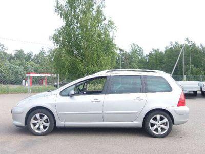 käytetty Peugeot 307 SW Premium Plus 1.6 HDi 90 AJ 265TKM AC JOPA ILMAN KÄSIRAHAA....