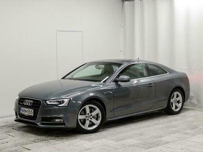 käytetty Audi A5 *SPORTTINEN!* S-Line 2,0 TFSI Flexifuel 155 kW A Quattro. Tarkastettuna, Rahoituksella, Kotiin toimi