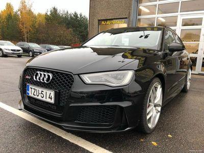 käytetty Audi RS3 2.5 TFSi 420 HV QUATTRO S-TRONIC SPORTBACK MUSTA OPTIIKKA LED-VALOT NAHKASISUTUS B&O WEBASTO