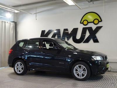 """käytetty BMW X3 A F25 X-Drive 20D M-SPORT """"Black Weekend - ERIKOISHINTA!"""" **NAVI**XENON**UUDET TALVIRENKAAT**"""