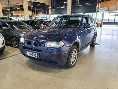 käytetty BMW X3 3,0dA E83 SAV ** Neliveto / Xenon-ajovalot / Vakkari / Autom. Ilmastointi / Vetokoukku / 2x Hyvät re