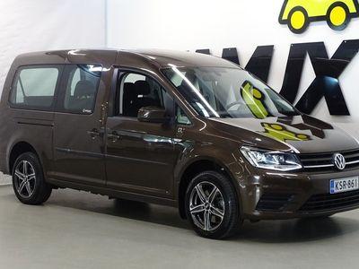 käytetty VW Caddy Maxi Trendline Family 2,0 TDI 75kW**/ Polttoainetoiminen lisälämmitin kellolla/ Alv Vähennyskelpoinen/ Invaramppi**