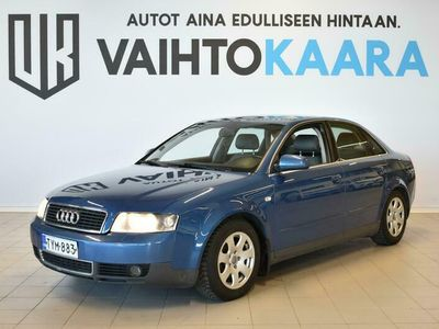käytetty Audi A4 1.8 Turbo Quattro 4d # HYVIN HUOLLETTU NELIKKO! # Jakopää tehty 334tkm, Pitkä leima! #