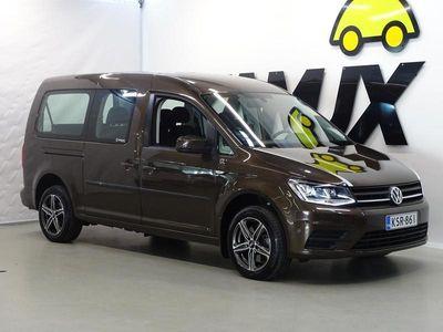 käytetty VW Caddy Maxi Trendline Family 2,0 TDI 75kW**/ Polttoainetoiminen lisälämmitin kellolla/ Alv Vähennyskelpoinen/ In