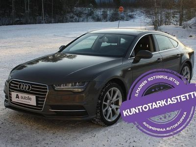 käytetty Audi A7 *NÄYTTÄVÄ*Business Sport 3,0 V6 TDI 200 kW Quattro Aut. Tarkastettuna, Rahoituksella, Kotiin toimite