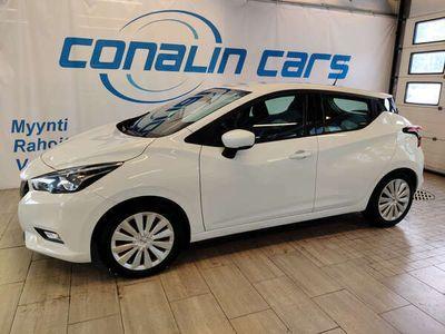 käytetty Nissan Micra IG-T 90 S/S Acenta 5M/T, valkoinen, uudempi malli, moottorilämmitin ja nastarenkaat!