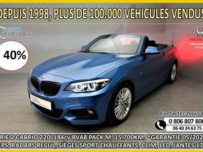 occasion BMW 220 I CABRIO 184cv BVA8 PACK M*GPS*RADARS*JA17*-40%