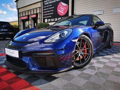 occasion Porsche 718 Cayman GT4 2019 - Bleu Métallisé - GT4 4.0 420 1° main Fr boite meca