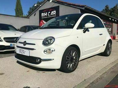 occasion Fiat 500 - 1.2 MPI 69cv LOUNGE (TOIT PANO, GPS...) - Blanc