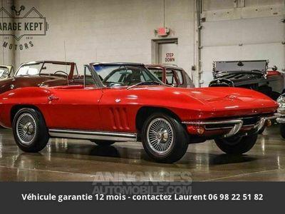 occasion Chevrolet Corvette C2 327 v8 side pipe 1965 prix tout compris