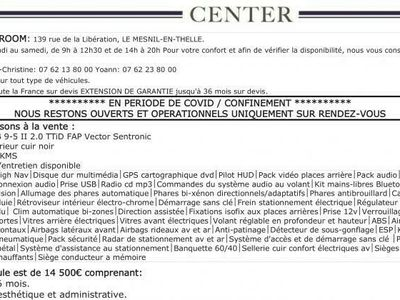 occasion Saab 9-5 Vector 2.0 TTiD BVA6