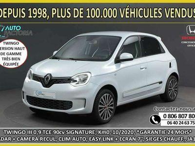 occasion Renault Twingo III 0.9 TCE 90cv SIGNATURE*CAM+RADAR+CLIM AUTO+JA16'*2020*-22%