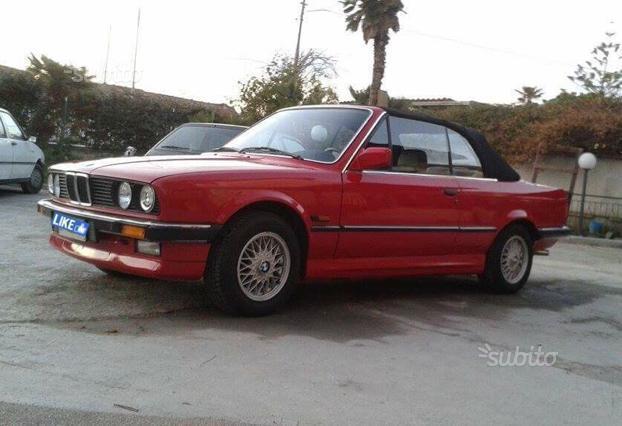 Venduto Bmw 320 Cabriolet E30 1987 Asi Auto Usate In Vendita