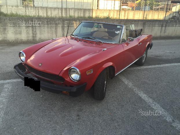 sold fiat 124 spider spider d 39 epoca used cars for sale. Black Bedroom Furniture Sets. Home Design Ideas