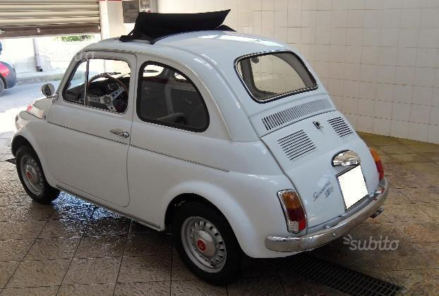 sold fiat 500 giannini tv origina used cars for sale. Black Bedroom Furniture Sets. Home Design Ideas