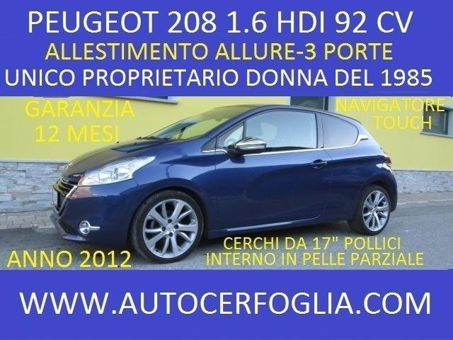 sold peugeot 208 1 6 e hdi 92 cv a used cars for sale autouncle. Black Bedroom Furniture Sets. Home Design Ideas
