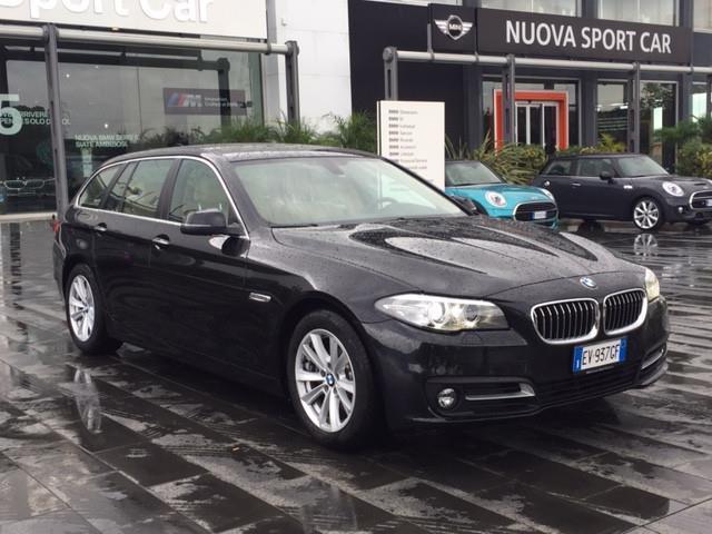 1/4 Usata BMW 520 Serie 5 Touring D Business Aut. Del 2014 Usata A Catania