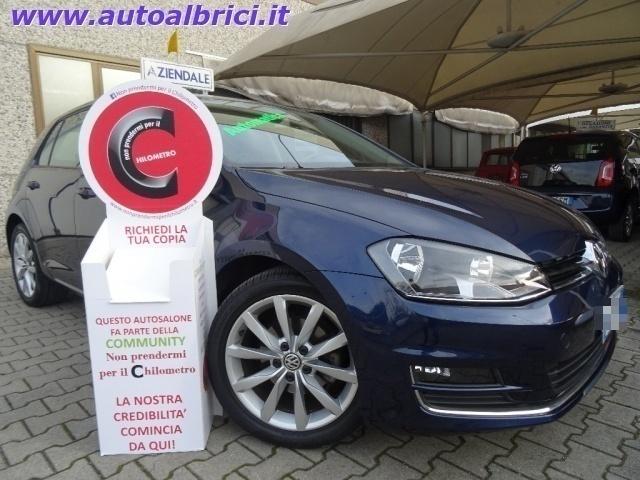 usata VW Golf 1.6 TDI DSG 5 PORTE HIGHLINE BLUEMOTION TECH USATA ALCANTARA NERO EURO 17.400