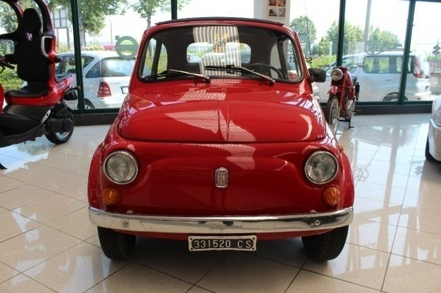 sold fiat 500 f 110 d 39 epoca cabrio used cars for sale. Black Bedroom Furniture Sets. Home Design Ideas