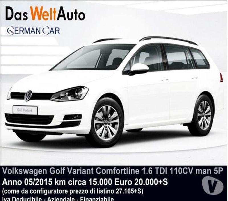 Venduto VW Golf Variant 2.0 TDI DSG E.