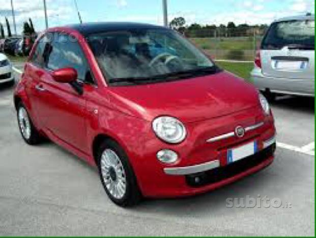 sold fiat 500 rossa gpl automatica used cars for sale. Black Bedroom Furniture Sets. Home Design Ideas
