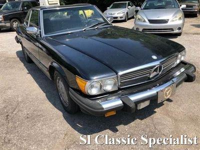 usata Mercedes 560 SL4 POSTI CATALIZZATA PROJECT CAR NERO PELLE NERA DEL 1987