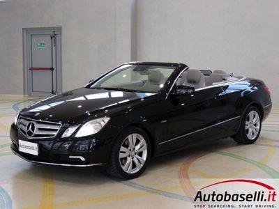 usata Mercedes E220 200 CGI 184CV CABRIO AVANTGARDE BLUEFFICIENCY