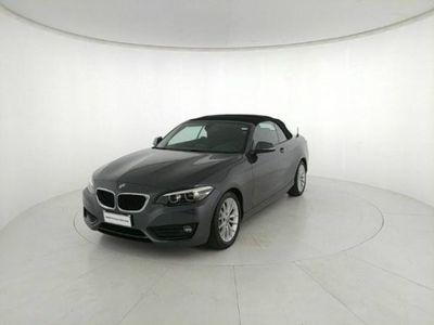 usata BMW 220 Serie 2 Cabrio i Advantage aut. del 2017 usata a Grumello del Monte