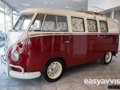 gebraucht VW T1 9 posti - bicolore rosso + tetto bianco benzina