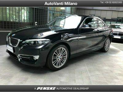 usata BMW 218 Serie 2 Coupé d Luxury aut. del 2019 usata a Milano