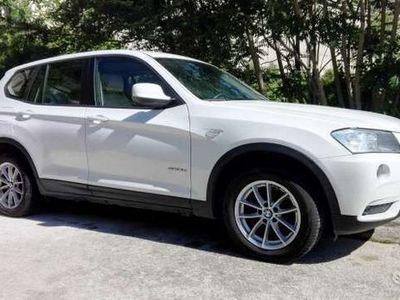 usata BMW X3 sDrive18d 143cv bianca, interni in pelle