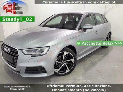 usata Audi A3 SPB S-Line TDI 2019 1.6 D 116CV 7Aut 5P Argento