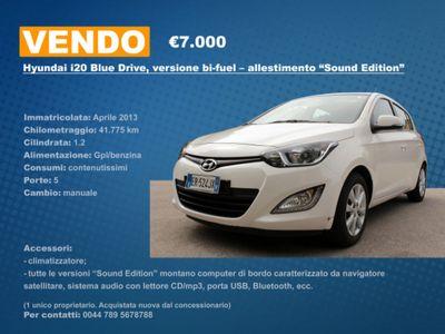 brugt Hyundai i20 1.2 5p. BlueDrive GPL Sound Edition
