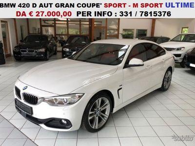 usata BMW 420 Serie D AUT G.C SPORT M SPORT VARIE