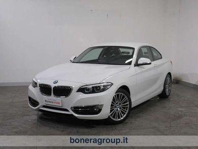 usata BMW 218 d coupe Luxury 150cv auto my18