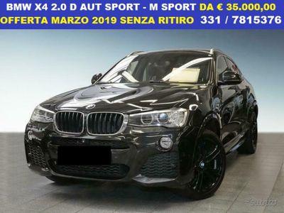 usado BMW X4 2.0 d aut sport m sport varie ultime