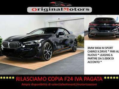 usata BMW 840 d xDrive Cabrio M Sport*Telecamera 360°*Fari Laser*Naviatore