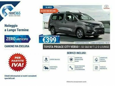 usata Toyota Verso Proace CityNOLEGGIO 1.5D 100 CV S&S Short D Lounge