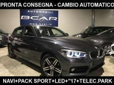"usata BMW 116 d 5p. sport +navi m +telec park+""17 +led diesel"