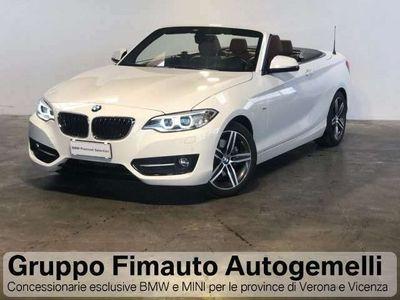 usata BMW 220 d Cabrio Sport Aut.