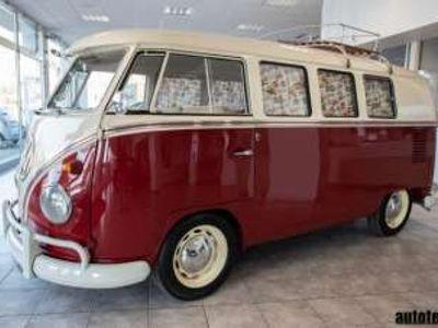 usata VW T1 9 posti - bicolore rosso + tetto bianco benzina