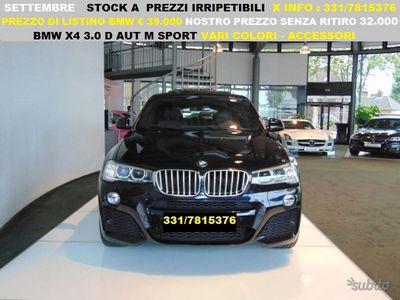 usata BMW X4 3.0 d aut m sport direzionali uff