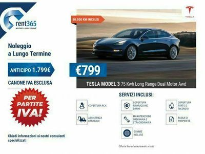 usata Tesla Model 3 NOLEGGIO Long Range Dual Motor AWD