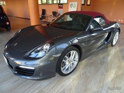 brugt Porsche Boxster 2.7 265cv 981 CAMBIO MANUALE usata Benzina Grigio / Capote Bordeaux metallizzato