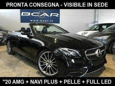 """usata Mercedes E220 Cabrio Premium Plus Auto AMG """"20 +Navi Plus+Led+"""
