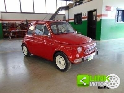 begagnad Fiat 500 NuovaF Francis Lombardi My Car trasformabile, anno 1970, completamente restaurata, documenti originali.