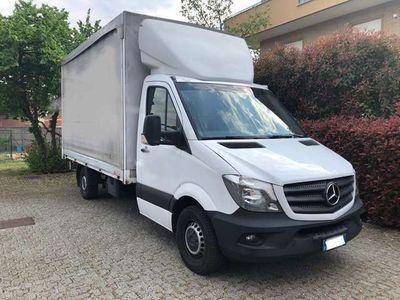 usata Mercedes Sprinter Chassis cab + cassone con centina e telone